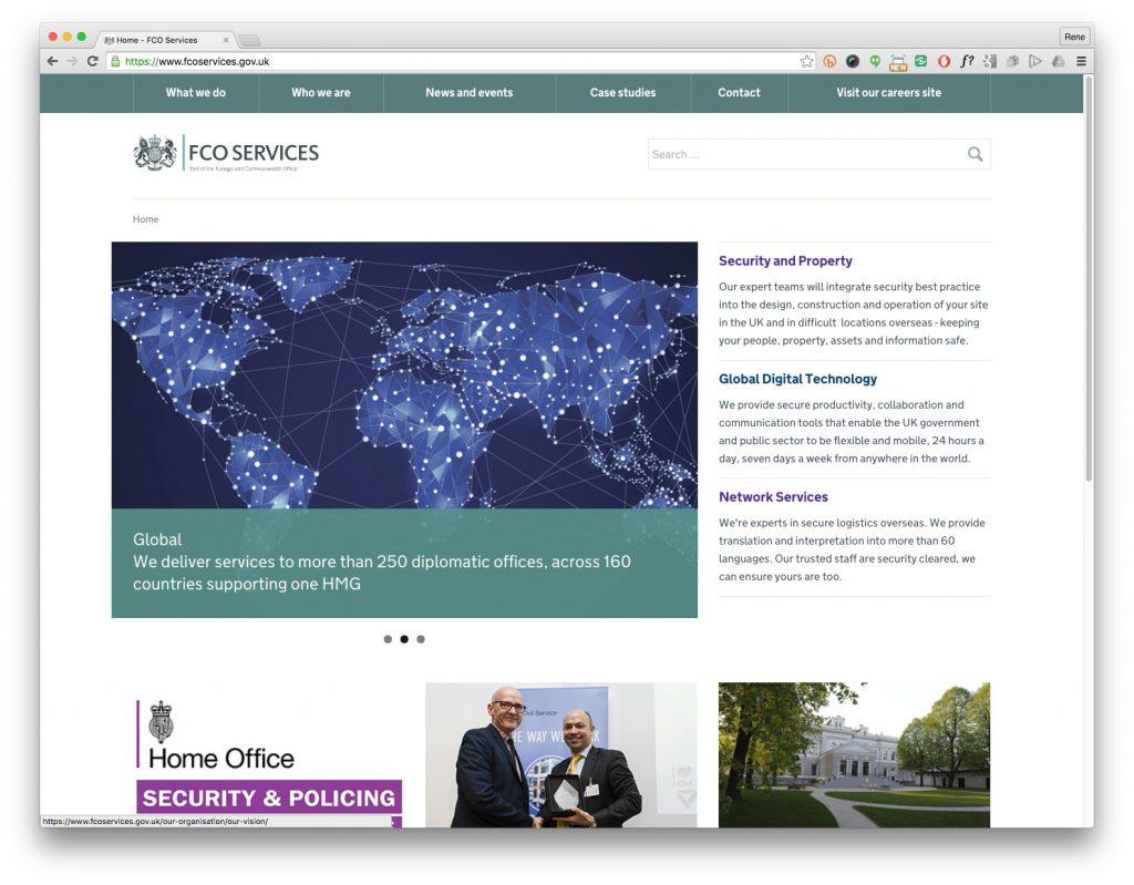 UK Government uxd application interface design